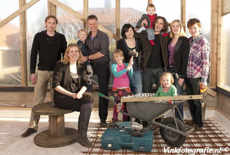 Familie groepsfoto